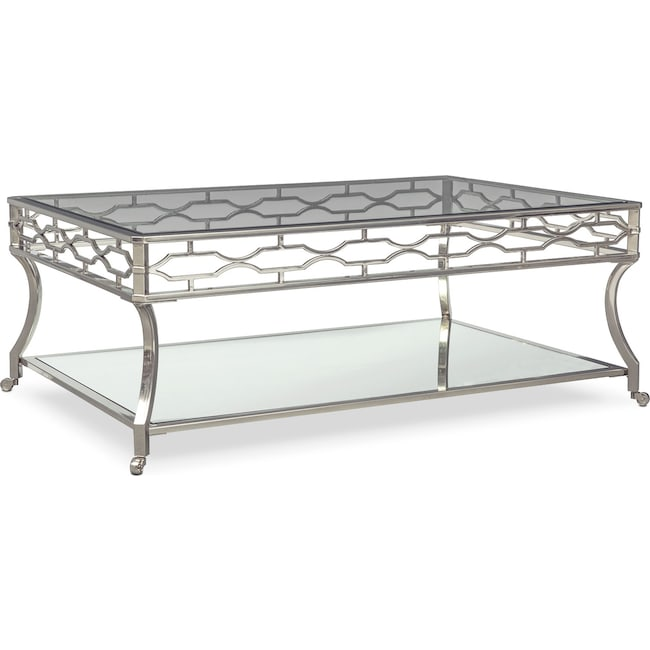 Accent and Occasional Furniture - Galleria Coffee Table - Chrome