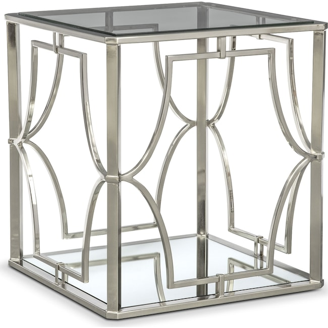 Accent and Occasional Furniture - Galleria End Table - Chrome