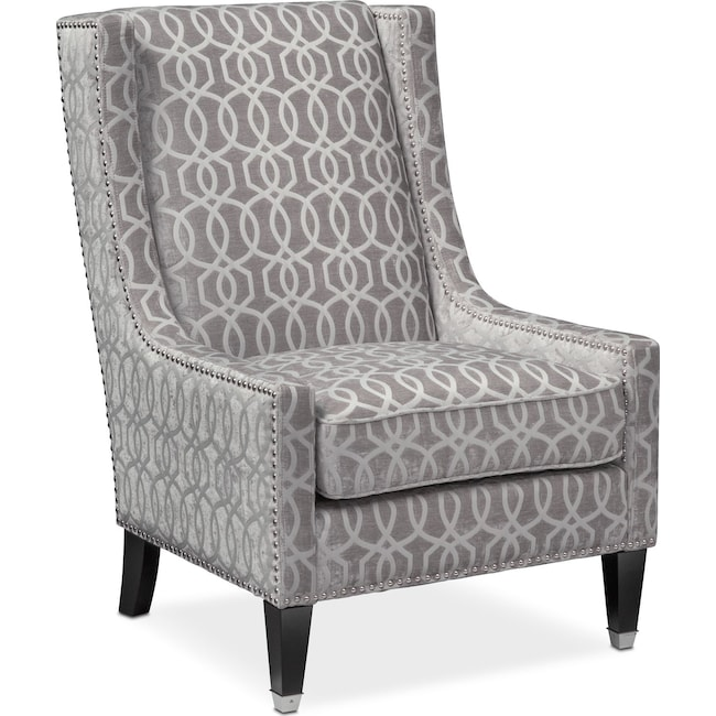 Living Room Furniture - Venn Accent Chair - Gray