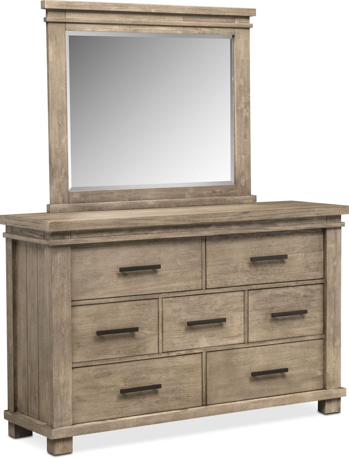 Tribeca Dresser And Mirror   Gray