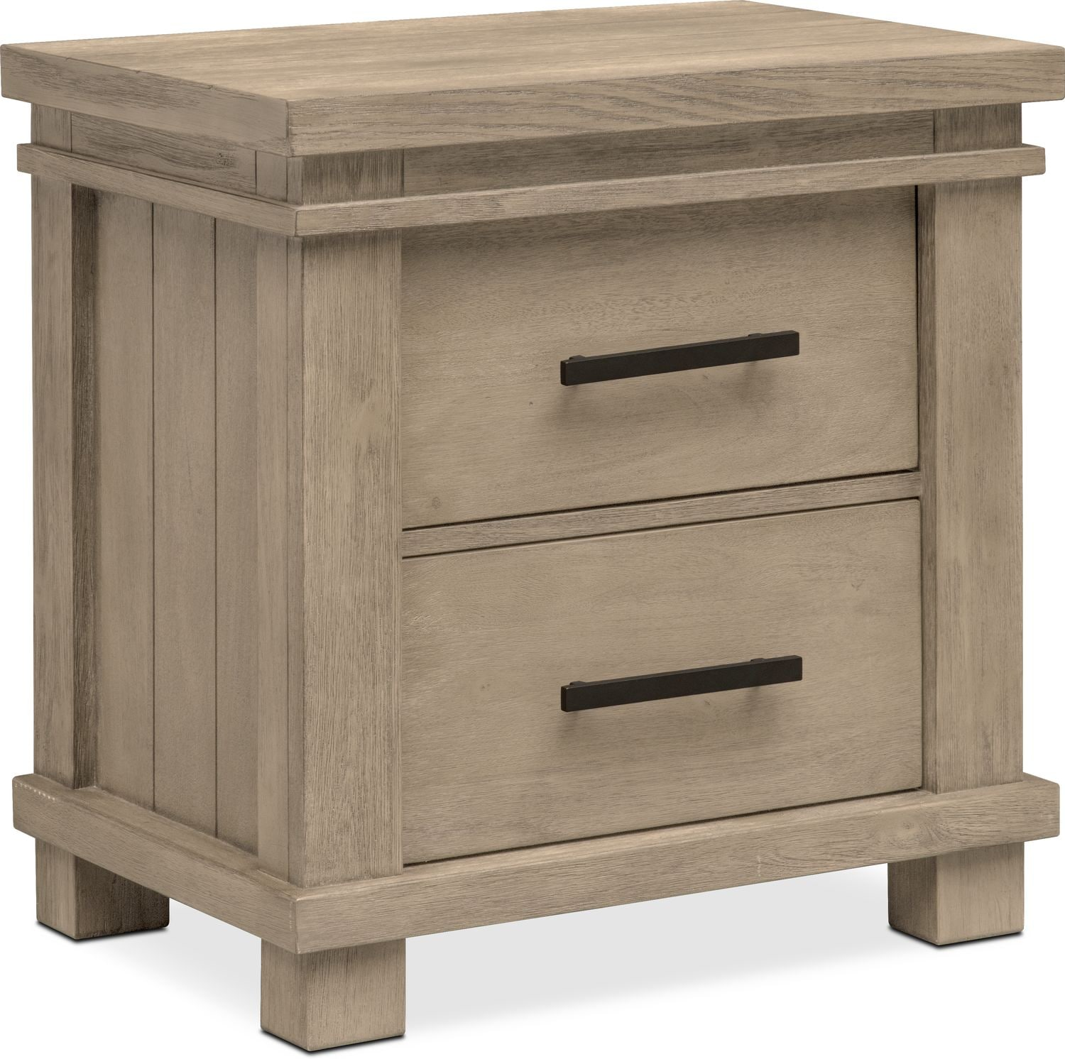 tribeca nightstand gray