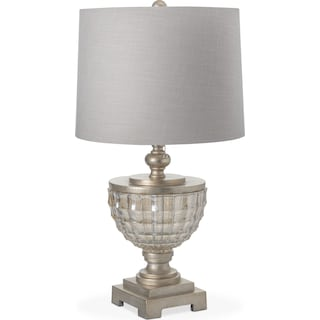 Silver Leaf Glass Table Lamp