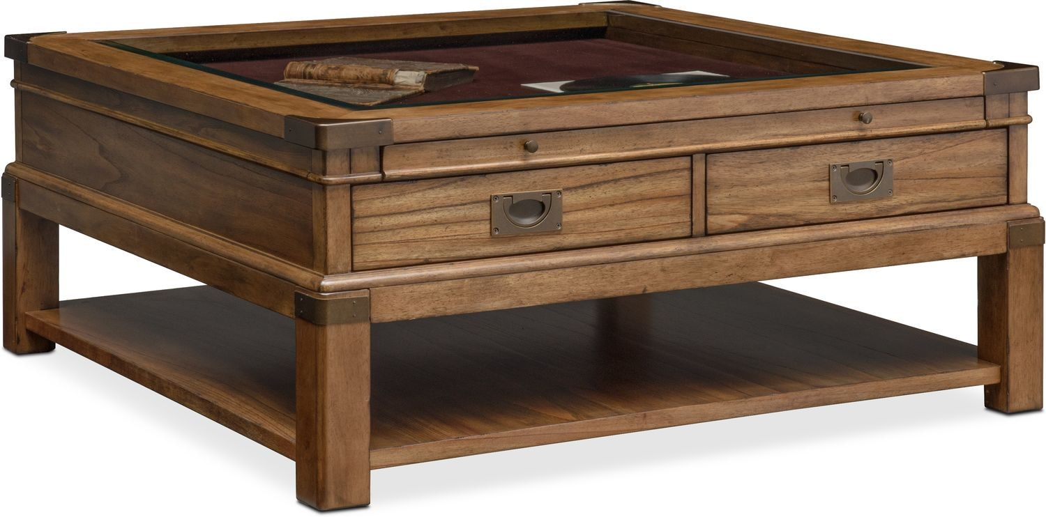 Accent And Occasional Furniture   Explorer Cocktail Table   Chestnut