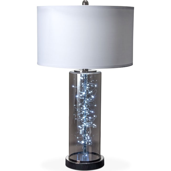 Glass Crystal Table Lamp Value City Furniture And Mattresses