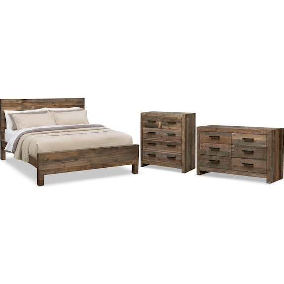 value city furniture king bedroom sets piece queen set pine west indies collection 5