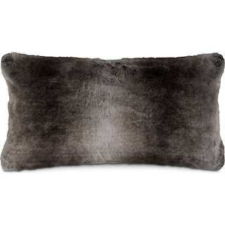 Faux Fur Pillow - Taupe