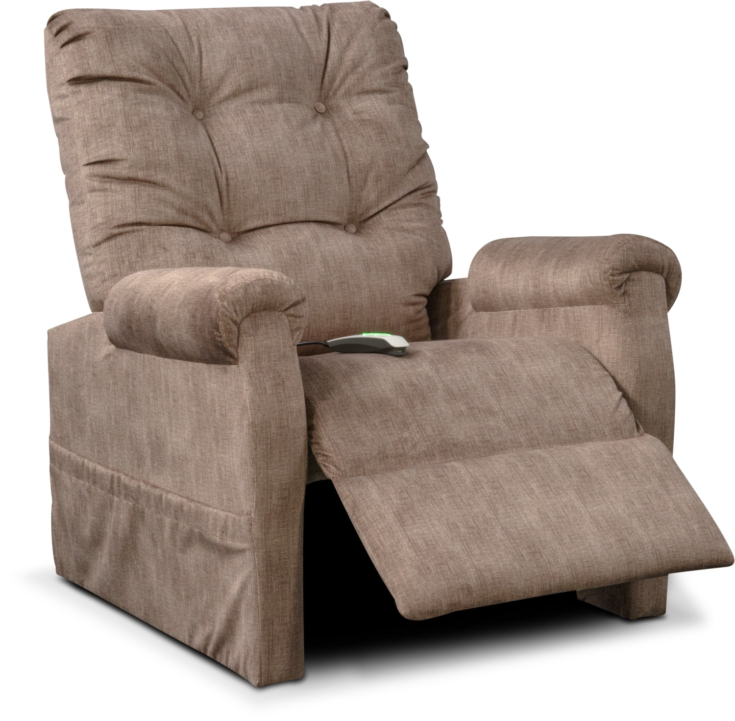 Brody Power Lift Recliner Putty Value City Furniture