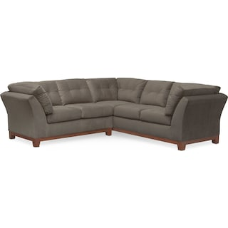 Sebring 2-Piece Sectional with Left-Facing Loveseat - Gray