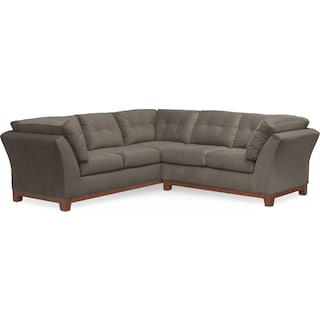 Sebring 2-Piece Sectional with Right-Facing Loveseat - Gray