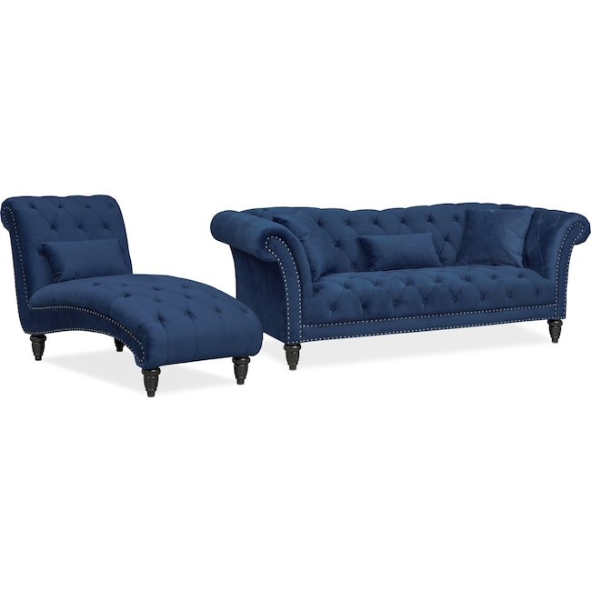 Living Room Furniture - Marisol Sofa and Chaise Set