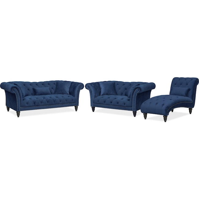 Marisol Sofa, Loveseat and Chaise Set | Value City Furniture and ...