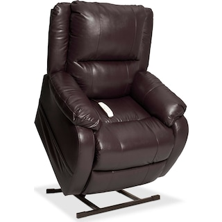 Dudley Power Lift Recliner - Brown