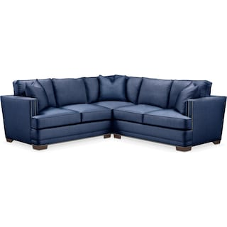 Arden 2 Pc. Sectional with Right Arm Facing Loveseat- Cumulus in Abington TW Indigo