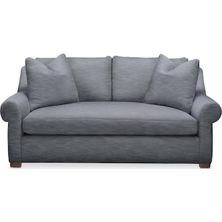 Asher Apartment Sofa- Cumulus in Dudley Indigo