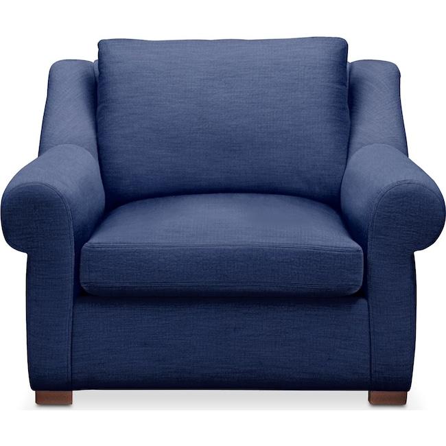 Living Room Furniture - Asher Chair- Cumulus in Abington TW Indigo
