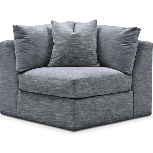 Living Room Furniture - Collin Corner Chair- Cumulus in Dudley Indigo