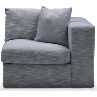 Collin Right Arm Facing Chair- Cumulus in Dudley Indigo