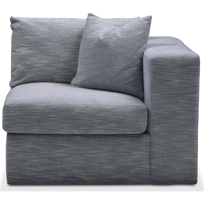 Living Room Furniture - Collin Right Arm Facing Chair- Cumulus in Dudley Indigo