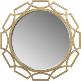 Malibu Mirror - Brass