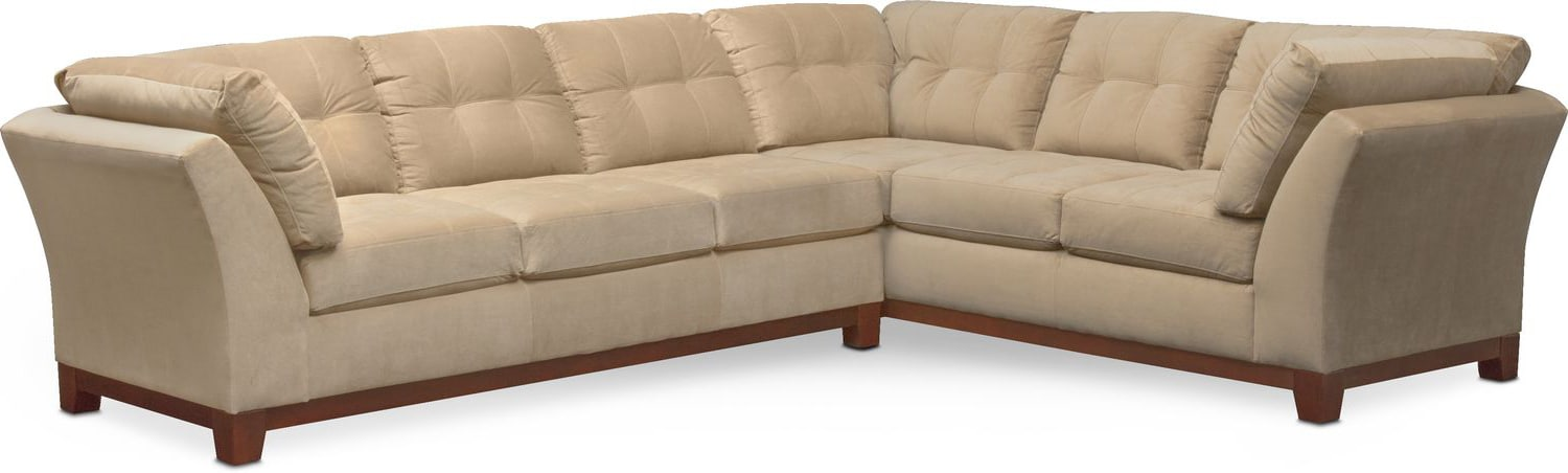 Living Room Furniture - Sebring 2-Piece Sectional with Left-Facing Sofa - Cocoa  sc 1 st  Value City Furniture : value city sectional - Sectionals, Sofas & Couches