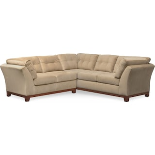 Sebring 2-Piece Sectional with Left-Facing Loveseat - Cocoa