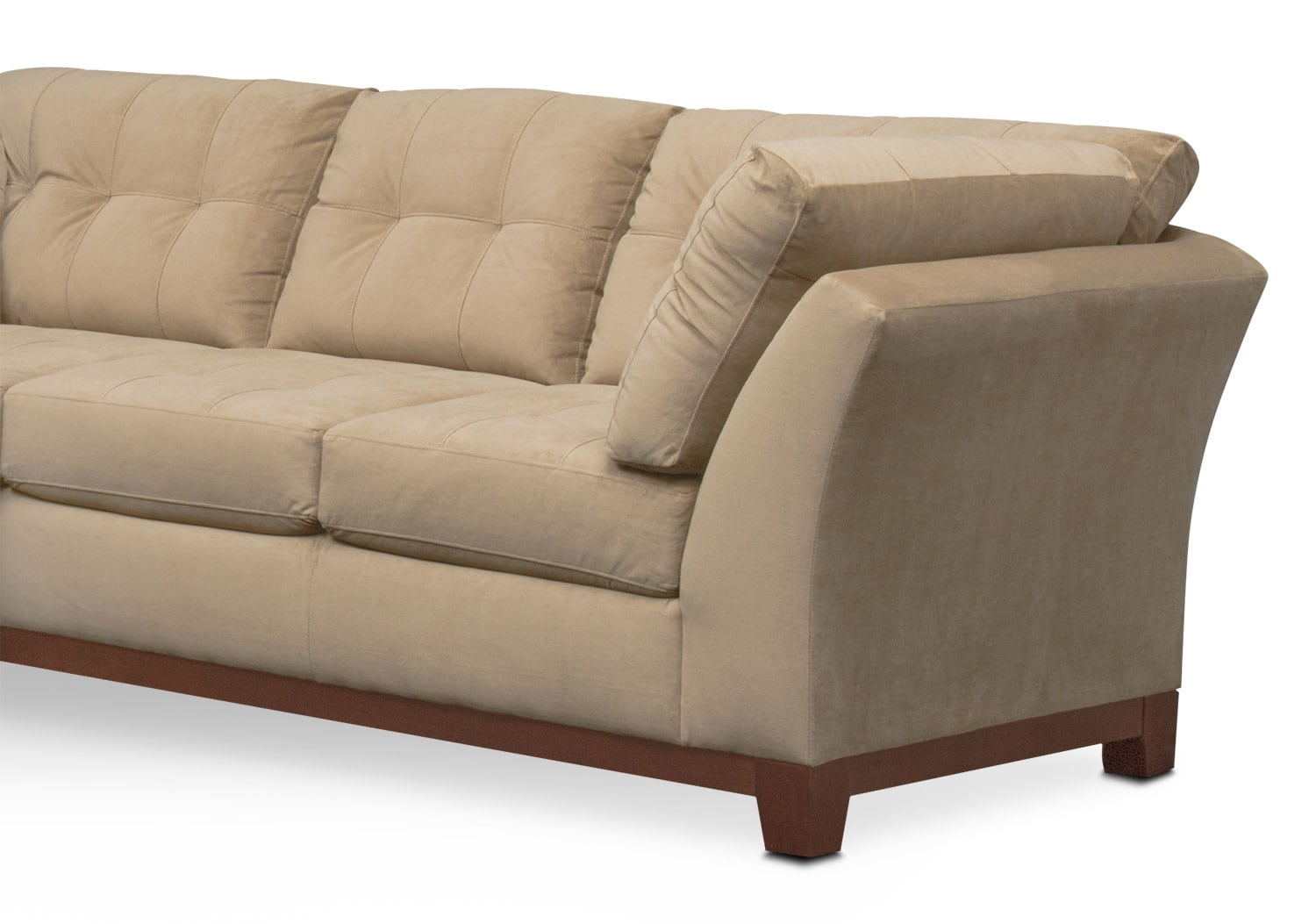 Miraculous Sebring 2 Piece Sectional With Left Facing Loveseat Cocoa Theyellowbook Wood Chair Design Ideas Theyellowbookinfo