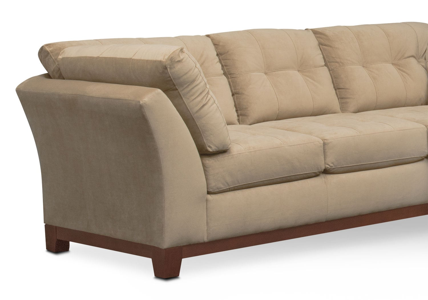 Sebring 2 Piece Sectional With Right Facing Loveseat Cocoa Value City Furniture