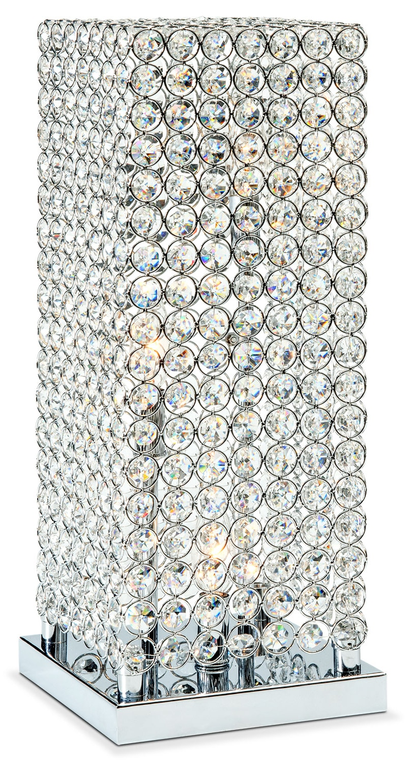 Accent and Occasional Furniture - Crystal Tower Table Lamp