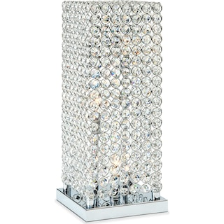 Crystal Tower Table Lamp