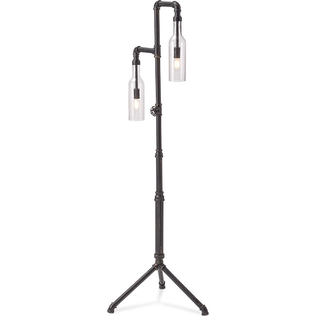 Home Accessories - Pipe Bottle Floor Lamp