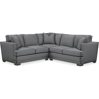 Arden 2 Pc. Sectional with Right Arm Facing Loveseat- Cumulus in Depalma Charcoal