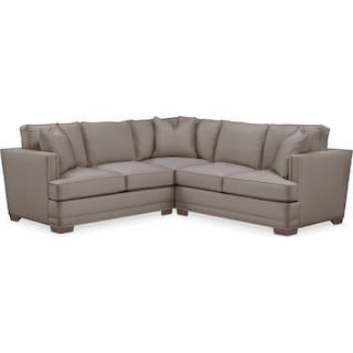Arden 2 Pc. Sectional with Right Arm Facing Loveseat- Cumulus in Oakley III Granite