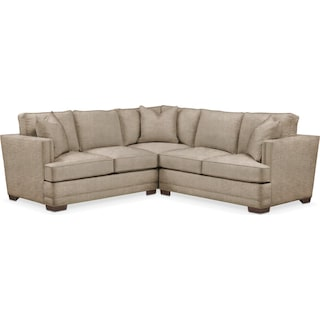 Arden 2 Pc. Sectional with Right Arm Facing Loveseat- Cumulus in Dudley Burlap