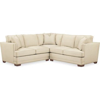 Arden 2 Pc. Sectional with Right Arm Facing Loveseat- Cumulus in Anders Cloud