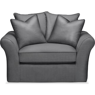 Allison Chair and a Half- Comfort in Depalma Charcoal