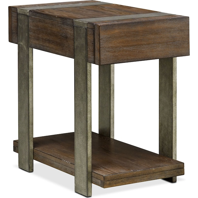 Accent and Occasional Furniture - Union City Chairside Table - Bark