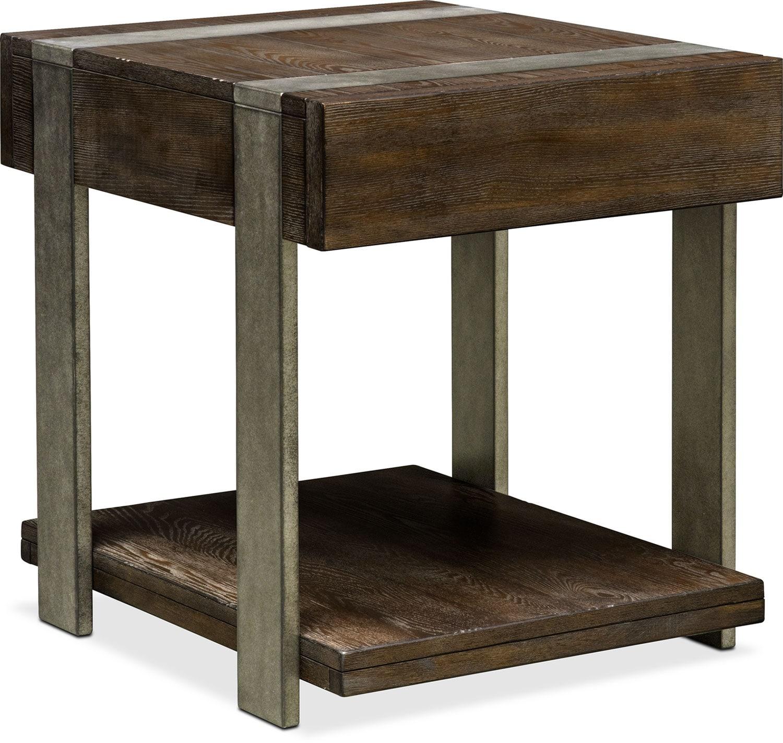 Union City End Table   Bark