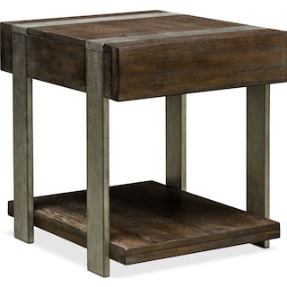 Union City End Table - Bark