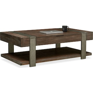 Union City Lift-Top Cocktail Table - Bark