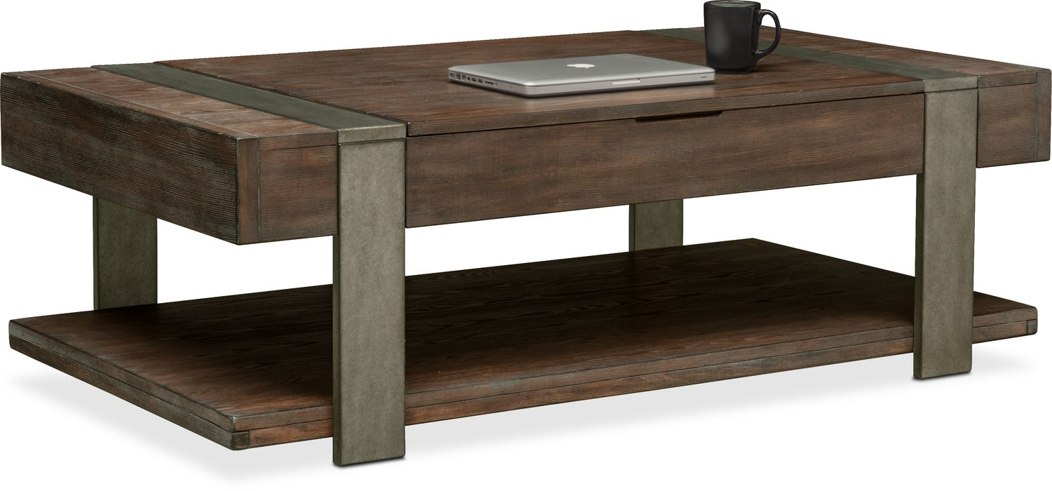 Union City Lift Top Cocktail Table   Bark