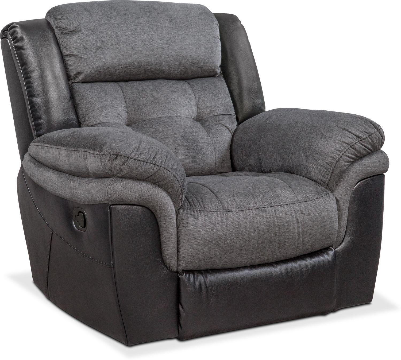 Living Room Furniture   Tacoma Glider Recliner   Black
