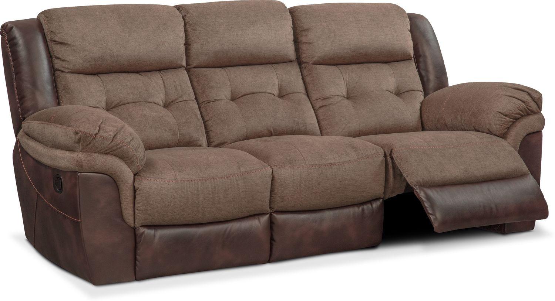 tacoma manual reclining sofa brown value city furniture and rh valuecityfurniture com brown reclining sofa brown reclining sofa with cup holders