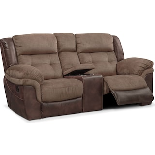 Tacoma Manual Reclining Loveseat with Console