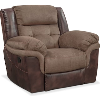Tacoma Glider Recliner - Brown