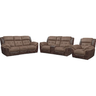 Tacoma Dual-Power Reclining Sofa, Loveseat and Recliner
