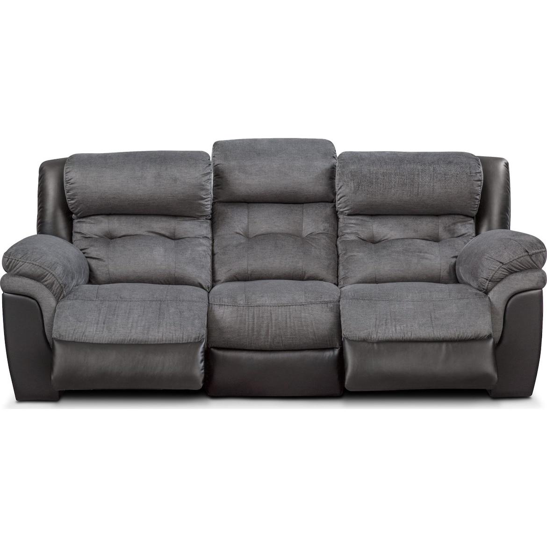 Tacoma Dual Power Reclining Sofa Value City Furniture And Mattresses