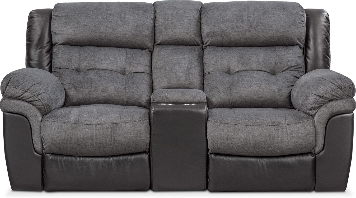 Click to change image. & Tacoma Dual Power Reclining Loveseat with Console - Black | Value ... islam-shia.org
