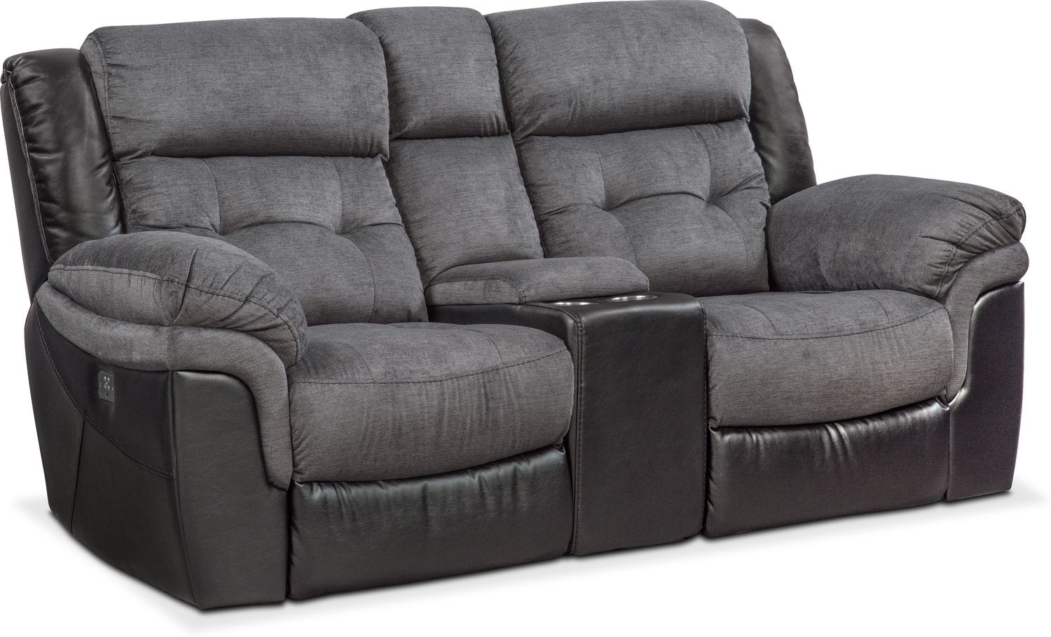 ... Power Reclining Loveseat with Console - Black. Hover to zoom  sc 1 st  Value City Furniture : power reclining loveseats with console - islam-shia.org