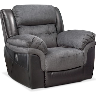 Tacoma Dual Power Recliner - Black