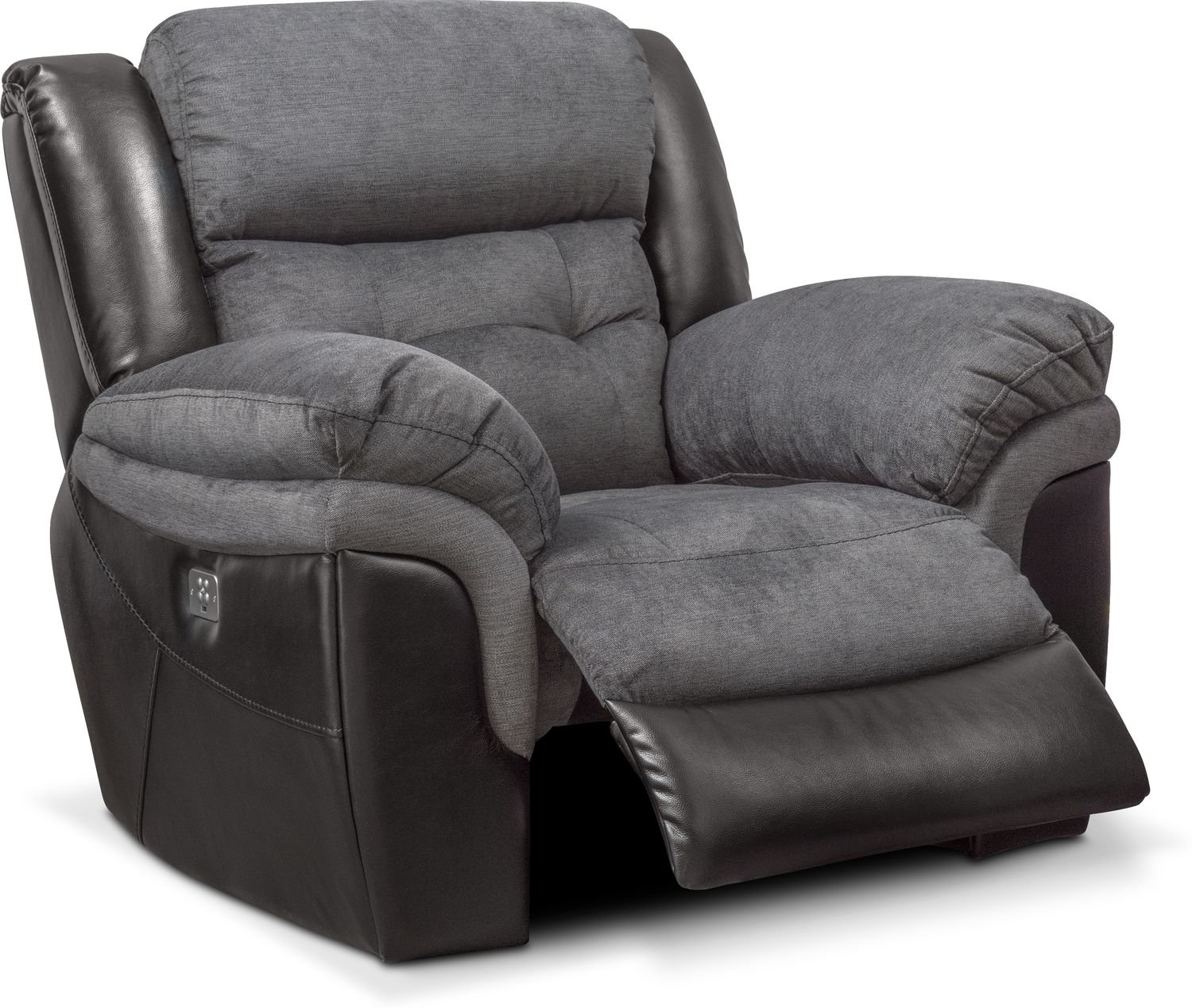 Tacoma Dual Power Recliner Black Value City Furniture